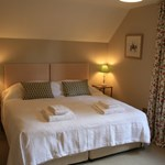 Ballintober double bedroom is one of three, making it an ideal base for exploring Royal Deeside.